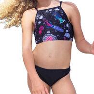 Girl & Co. Girl's Taya Scalloped Cropped 2-Piece Tankini