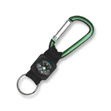 Bison Designs 6 cm. Carabiner Keychain w/ Web & Compass