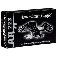 American Eagle 223 Remington 55 Grain FMJ BT Rifle Ammo (20)