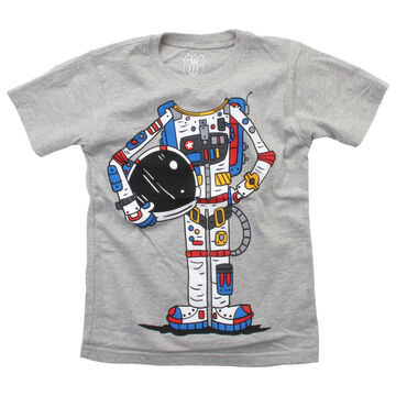 Wes And Willy Boys Astronaut Suit Short-Sleeve T-Shirt