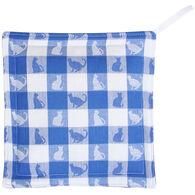 Maine Balsam Fir Blue & White Check Cats Trivet