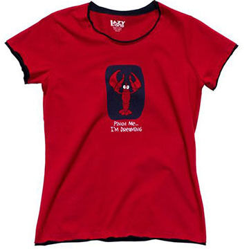 Lazy One Womens Pinch Me Im Dreaming Lobster Fitted Sleep T-Shirt