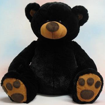 Wishpets Stuffed Pawee Black Bear