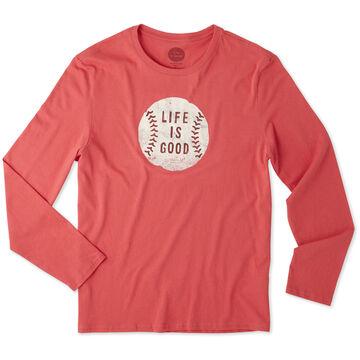 Life is Good Mens Vintage Baseball LIG Smooth Long-Sleeve T-Shirt