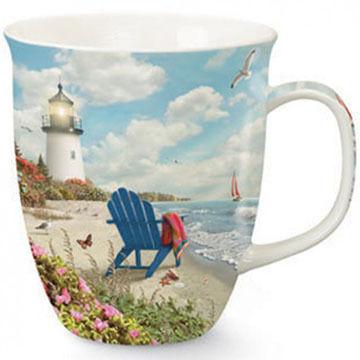 Cape Shore Maine Adirondack Lighthouse Harbor Mug