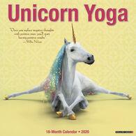 Willow Creek Press Unicorn Yoga 2020 Wall Calendar