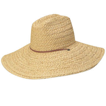Dorfman Pacific Mens Scala Raffia Lifeguard Hat