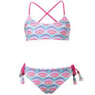 Snapper Rock Swimwear Girl's Tutti Fruiti X Back Tie Two-Piece Swimsuit