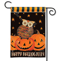 BreezeArt Owloween Fun Decorative Garden Flag