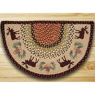 Capitol Earth Moose & Pinecone Slice Rug