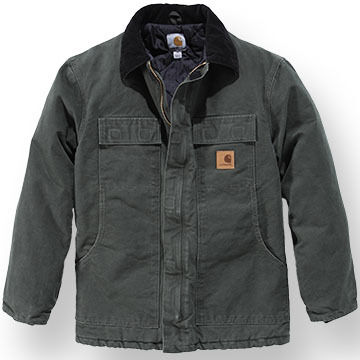 Carhartt Mens Big & Tall Sandstone Traditional Arctic Quilt-Lined Coat