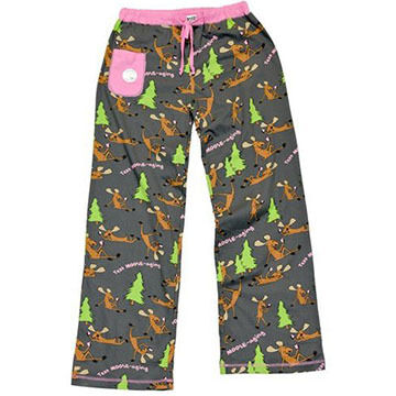 Lazy One Womens Texting Moose-aging Pajama Pant
