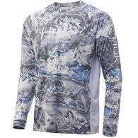 Huk Men's Logo Mossy Oak Pursuit Performance Fishing Long-Sleeve Shirt