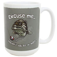 Earth Sun Moon Excuse Me Fish Mug
