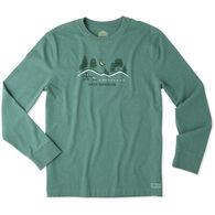 Life is Good Men's Winter Wanderland Long-Sleeve Crusher T-Shirt