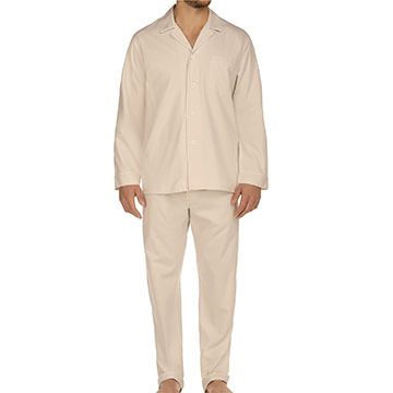 Majestic International Men's Herringbone Cotton Long-Sleeve Better Pajama