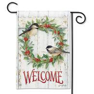 BreezeArt Chickadee Wreath Garden Flag