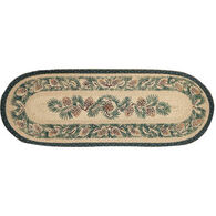 Capitol Earth Pinecone Oval Braided Runner