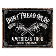 Desperate Enterprises American Iron Tin Sign