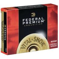 "Federal Premium Vital-Shok Buckshot 10 GA 3-1/2"" 00 Buck Shotshell Ammo (5)"