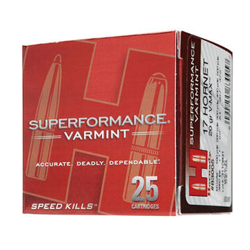 Hornady Superformance Varmint 22-250 Remington 50 Grain V-Max Rifle Ammo (20)