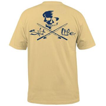Salt Life Mens Skull & Poles Pocket Short-Sleeve T-Shirt