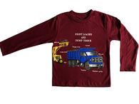 Spudz Toddler Boys' Frontloader Long-Sleeve T-Shirt