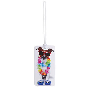 Lewis N. Clark Dog with Lei Luggage Tag