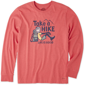 Life is Good Mens Take A Hike Crusher Long-Sleeve T-Shirt