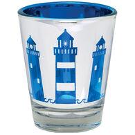 Cape Shore Maine Lighthouse Metallic Shot Glass