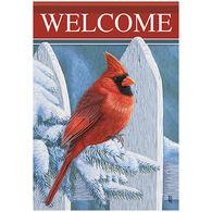 Carson Home Accents Crimson Welcome Garden Flag