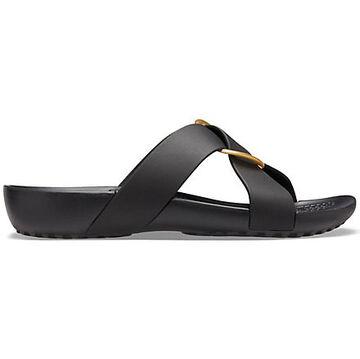 Crocs Womens Serena Cross-band Slide Sandal