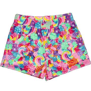 Candy Pink Girls Candy Fleece Pajama Short