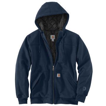 Carhartt Mens Big & Tall Rain Defender Rockland Quilt-Lined Full Zip Hooded Sweatshirt