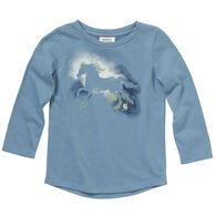 Carhartt Toddler Girl's Watercolor Horse Long-Sleeve Shirt
