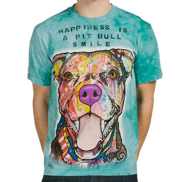 The Mountain Mens Big & Tall Pit Bull Smile Short-Sleeve T-Shirt