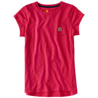 Carhartt Girls' Pocket Short-Sleeve T-Shirt