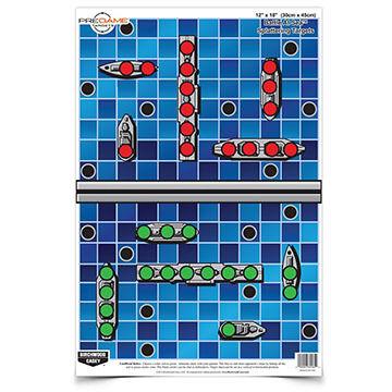 "Birchwood Casey Pregame 12"" x 18"" Battle at Sea Reactive Paper Target - 8 Pk."
