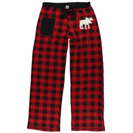 Lazy One Women's Moose Plaid Applique Pant