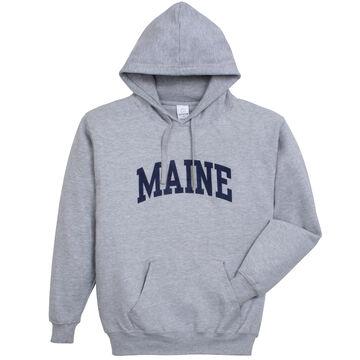 A.M. Mens Heavyweight Maine Arch Design Long-Sleeve Hooded Sweatshirt