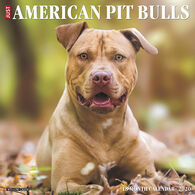Willow Creek Press Just American Pit Bulls 2020 Wall Calendar