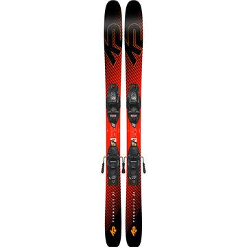 K2 Childrens Pinnacle Jr. Freeride Alpine Ski w/ Bindings