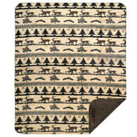 Monterey Mills Denali Deer Haven Throw Blanket