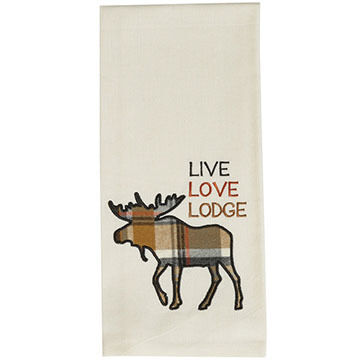 Park Designs Live Love Lodge Applique Dish Towel