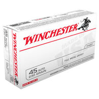Winchester USA 45 Automatic 230 Grain FMJ Handgun Ammo (50)