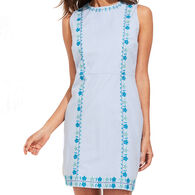 Vineyard Vines Women's Pop Embroidered Shift Dress
