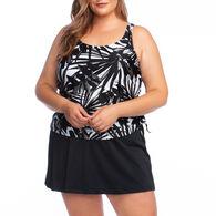 Maxine Women's Full Figure Shimmer Skirtini Swimsuit