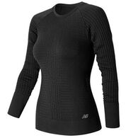 New Balance Women's M4M Seamless Long-Sleeve Top