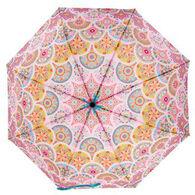 Karma Women's Pink Medallion Travel Umbrella