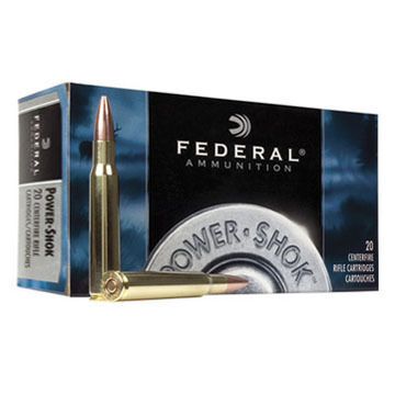 Federal Power-Shok 7mm WSM 150 Grain SP Rifle Ammo (20)